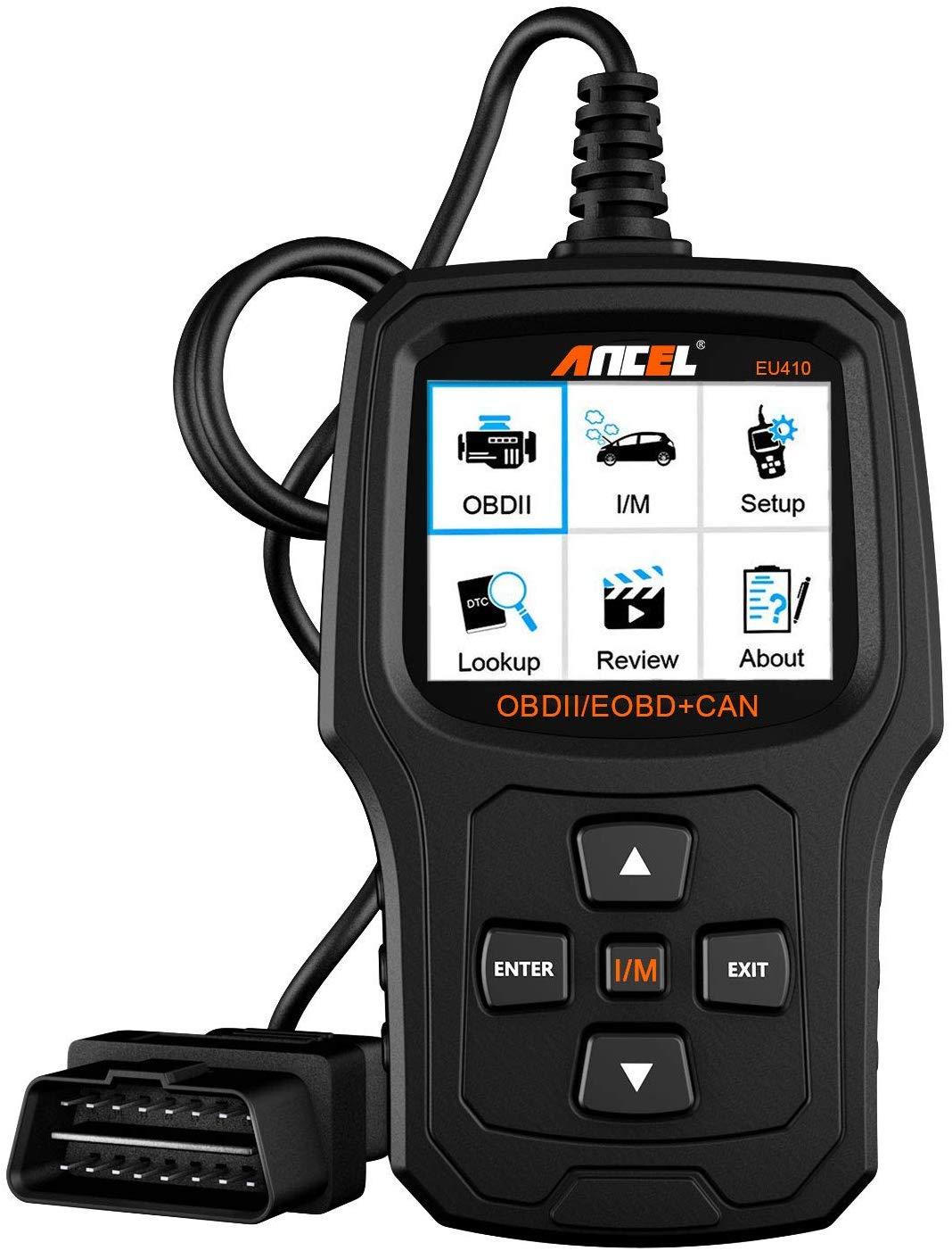 ANCEL EU410 Renforcé Lecteur de Code Défauts du Moteur pour les Véhicules en Diesel et Essence suivant le Protocole OBD2 Scanner Outils..