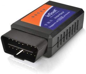 ieGeek OBD WiFi OBD2 Mini Adaptateur Sans-Fil Scanner Code de Défaut pour Véhicule Mini Outils - Connexion via WiFi sur Télé.